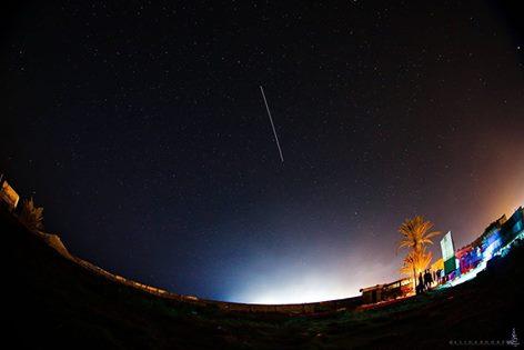 صورة احترافيه توثق عبور محطة الفضاء الدولية فوق منطقة #طلميثة #ليبيا
