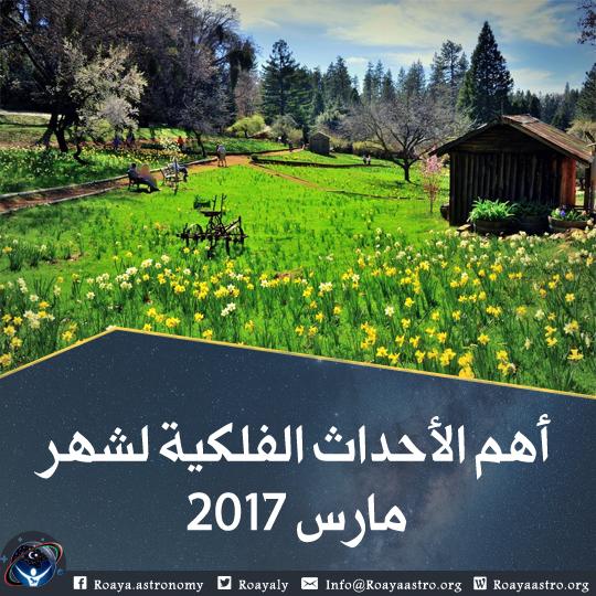 أهم الأحداث الفلكية لشهر مارس 2017