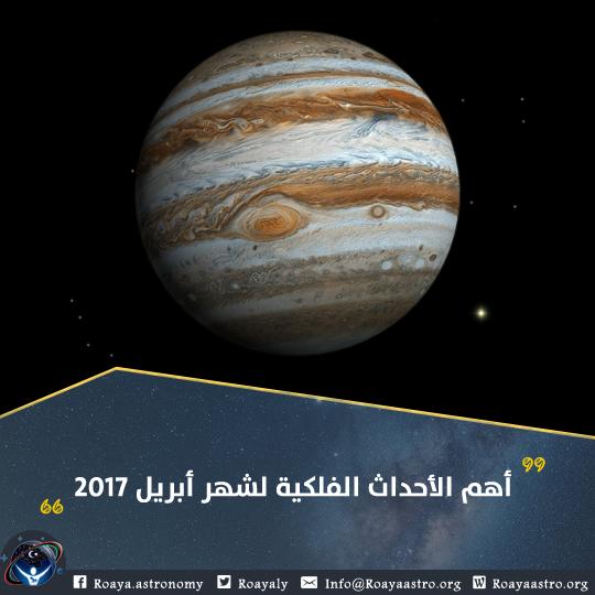 أهم الأحداث الفلكية لشهر أبريل 2017