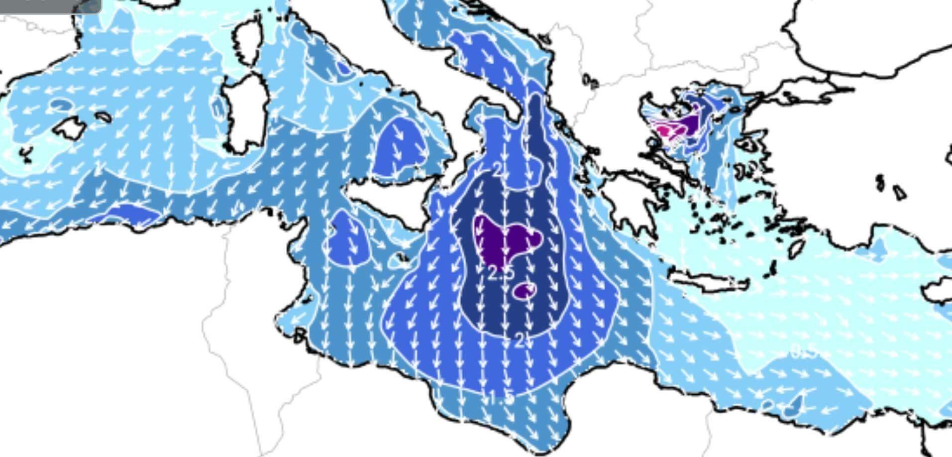 تحذير من إضطراب في حالة البحر على السواحل الليبية